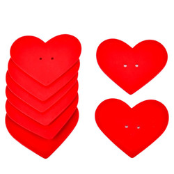 Heart Set-8 Deco wood 6x7x1cm red