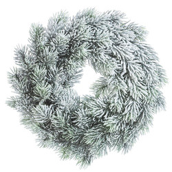 Wreath Fir plastic 30x30cm green