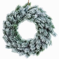 Wreath Fir plastic 40x40cm green