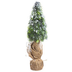 Christmastree Elegance plastic 40cm green-natural
