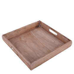 Tray Country-Authentic Design wood 6x36x36cm natural-burned