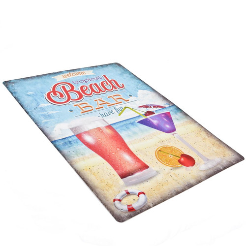 Blechschild Beach Bar Maritim Design Metall 40x30cm bunt