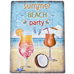 Blechschild -Maritim Beach Party- 40x30cm bunt