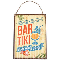 Blechschild -Tiki Bar Beach- 40x30cm bunt