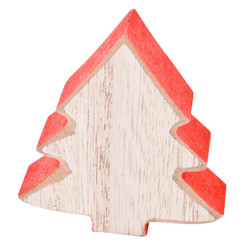 Tree Set-8 Deco-Object wood 7x6x2cm natural-red