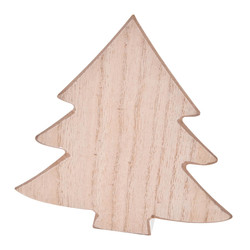 Tree Set-6 Deco-Object wood 12x11x2cm natural-white