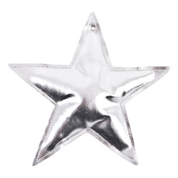 Star Metallic Design Deco Hanger 18x18x3cm silver