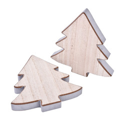 Tree Set-4 Deco-Object wood 16x15x2cm natural-silver