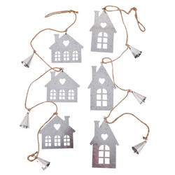 Winter Tree Design Deco Hanger wood 17x12x3cm natural white