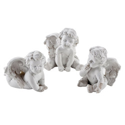 Angel Set-3 Xmas Design Deco-Figure polyresin 3x4x4cm white