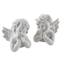 Angel Set-2 Xmas Design Deco-Figure polyresin 6x6x7cm white