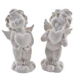 Angel Anton 2ass. Deco Figures polyresin 10x5x4cm white