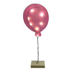 Balloon 8 LED Battery waxpaper rose 51x16x5cm