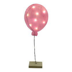 Balloon 10 LED Battery waxpaper rose 66x22x7cm