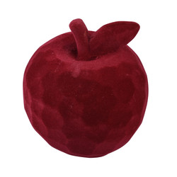Apple velvet polyresin darkred 11x9x9cm