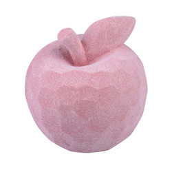 Apple velvet polyresin rose 12x11x11cm
