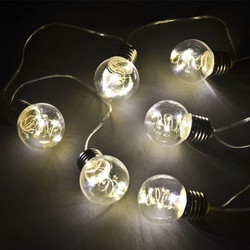 Bulb LED Lightstring Design plastic 130x4x6cm warmwhite