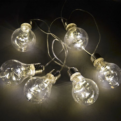 Bulb LED Lightstring Design plastic 145x6x10cm warmwhite