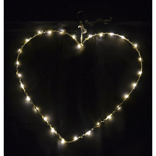Light Heart 30 LED Metal 30x30cm Timer In-Outdoor