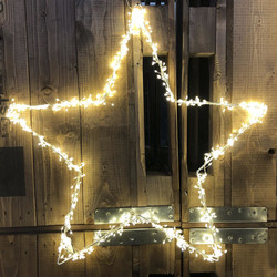 Cluster Light-Star 80-LED metal 40x40cm In-Outdoor warmwhite