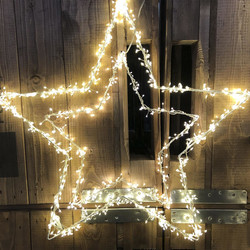 Cluster Light-Star 150-LED metal 80x80cm In-Outdoor...