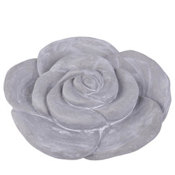 Rose -Emily- Deco-Object cement 5x16x16cm grey