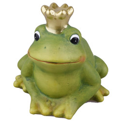 Frog -Edward- Deco-Figure ceramic 13x12x11cm green