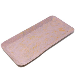 Tray -Crushed- metal 2x39x19cm pink-gold