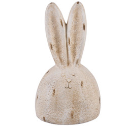 Rabbit Heady Deco-Figure clayfibre 54x20x14cm cream