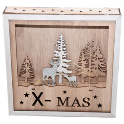 LED-Deco -Forest- wood 20x20cm natural