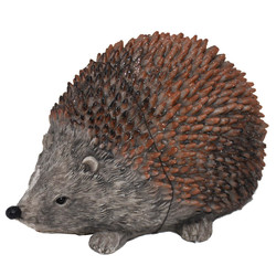 Hedgehog -Willi- Deco-Figure polyresin 7x12x8cm brown