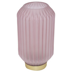 Table-Lamp -Exotica- glass 27x13x13cm pink