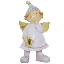 Angel -Julius- Deco-Figure polyresin 16x8x6cm pink-gold