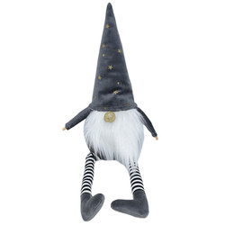 Gnome -Jim- fabric 45x11x9cm grey-white