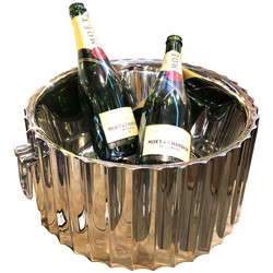 Champagne-Cooler -Royal- stainless-steel 18x36x36cm silver