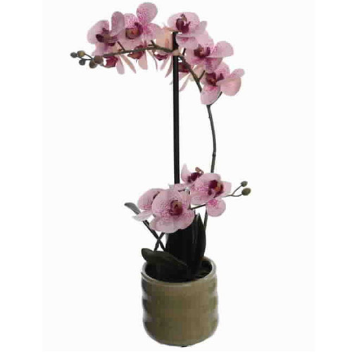 Orchid Pot Artificial-Plant 48cm lilac