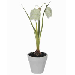 Snake-Mouth Pot Artificial-Plant 22cm cream