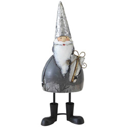 Santa -Bert- metal 29x11x8cm grey-white