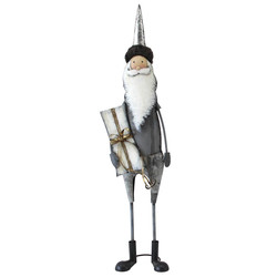 Santa -Pat- metal 85x24x15cm grey-white