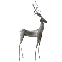 Deer -Dalora- Deco-Figure metal 66x31x10cm grey