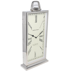Standuhr -William- Metall 50x24x8cm silber