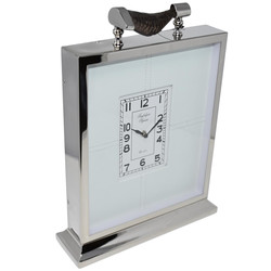 Standuhr -George- Metall 40x29x9cm silber