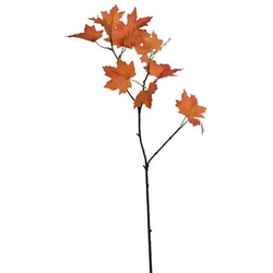 Stiel -Maple Leafes- Kunstblume 71cm orange