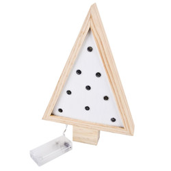 Christmastree Object LED wood 27x8x4cm white natural