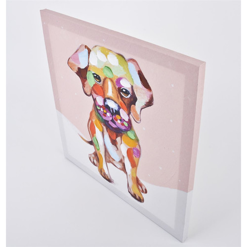 Kunstdruck -Pop Dog Puppy- 40x40cm bunt