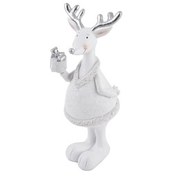 Deer Fancy Deco Figure Xmas Design polyresin 19x9x8cm...