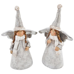 Angel Set-2 Deco Figure Xmas Design polyresin 12x7x3cm...