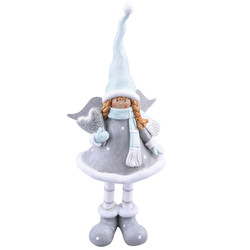 Engel Chique-Design Deko-Figur Resin 27x12x7cm grau-mint