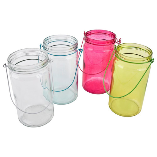 Windlicht 4er Set Colours Glas 20x9cm bunt