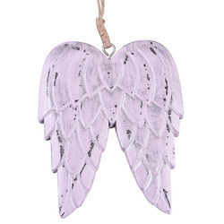 Angelwings Hanger wood light-pink 12x10x2cm